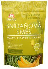 Iswari BIO Raňajková zmes Mladý jačmeň, banán, naklíčené pohánka