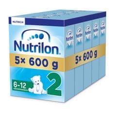 Nutrilon 2 pokračovací kojenecké mléko 5x 600g