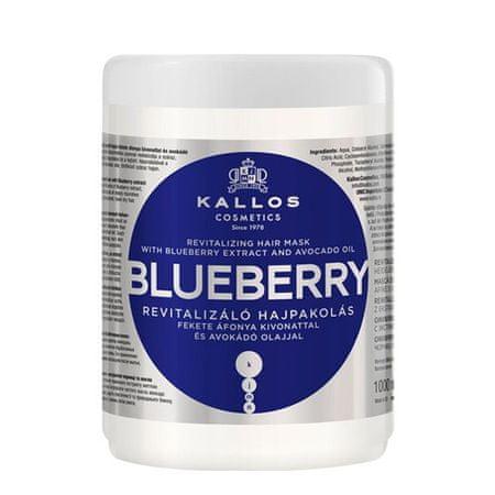 Kallos Revitalizáló hajpakolás fekete áfonya kivonattal (Blueberry Hair Mask) (mennyiség 275 ml)