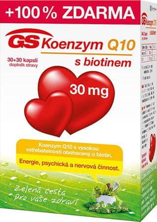 GreenSwan GS Koenzým Q10 30 mg 30 kapslí + 30 kapslí