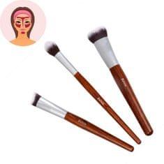 Sefiros Sada štetcov pre kontúrovanie tváre s rukoväťou z červeného dreva Red Wood (Conturing Brush Kit)