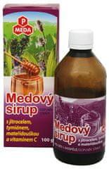 Purus Meda PM Medový sirup s skorocelom, tymiánom, materinou dúškou a vitamínom C 100 g