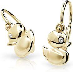 Cutie Jewellery Detské náušnice C1954-10-10-X-1 žlté zlato 585/1000
