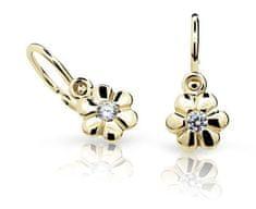 Cutie Jewellery Gyermek fülbevaló C1736-10-X-1 sárga arany 585/1000