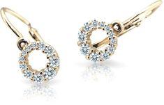 Cutie Jewellery Gyermek fülbevaló C2154-10-X-1 sárga arany 585/1000