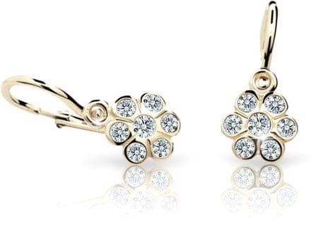 Cutie Jewellery Gyermek fülbevaló C1737-10-X-1 (szín fehér) sárga arany 585/1000