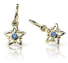 Cutie Jewellery Detské náušnice c1996-10-X-1 žlté zlato 585/1000