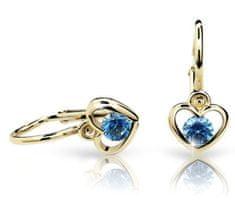Cutie Jewellery Detské náušnice C1943-10-X-1 žlté zlato 585/1000