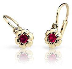 Cutie Jewellery Dzieci kolczyki C2151-10 żółte złoto 585/1000