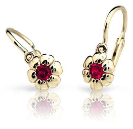 Cutie Jewellery Otroški uhani C2151-10 (Barva červená) rumeno zlato 585/1000