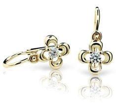 Cutie Jewellery Detské náušnice C2013-10 žlté zlato 585/1000
