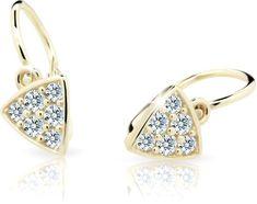 Cutie Jewellery Detské náušnice C2207-10-X-1 žlté zlato 585/1000