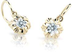 Cutie Jewellery Gyermek fülbevaló C2213-10 sárga arany 585/1000