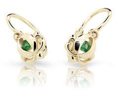 Cutie Jewellery Detské náušnice C2218-10 žlté zlato 585/1000