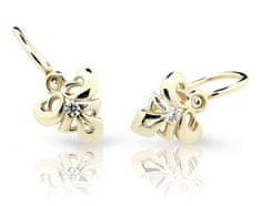 Cutie Jewellery Gyermek fülbevaló C2214-10 sárga arany 585/1000