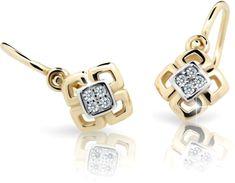 Cutie Jewellery Detské náušnice C2240-10-X-1 biele zlato 585/1000