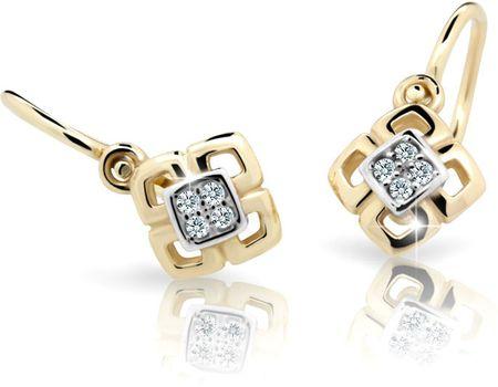 Cutie Jewellery Gyermek fülbevaló C2240-10-X-1 (szín rózsaszín) fehér arany 585/1000