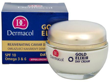 Dermacol Pomlajevalna dnevna krema s kaviarjem SPF 10 ( Gold Elixir Day Cream) 50 ml