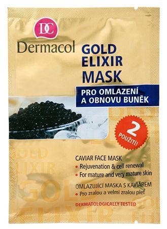 Dermacol Fiatalító arcmaszk kaviárral(Gold Elixir Caviar Face Mask) 2 x 8 g