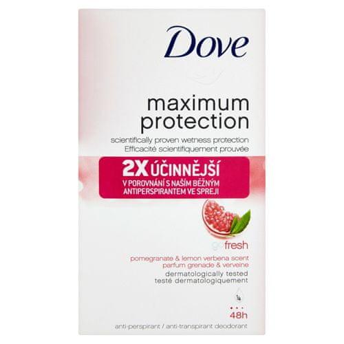 Dove Tuhý dezodorant Maximum Protection s vôňou granátového jablka a citrónovej verbeny 45 ml