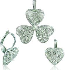 MHM Zestaw biżuterii Kier Kryształ 34108 srebro 925/1000