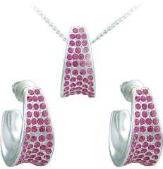 MHM Komplet nakita Leona Rose 34105 (uhani, veriga, obesek) srebro 925/1000