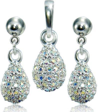 """MHM """"Csepp"""" ékszer szett M4 Crystal AB 3484 ezüst 925/1000"""