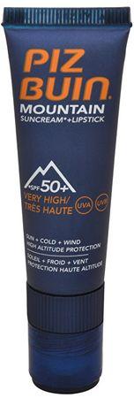 "PizBuin Napvédő krém SPF 50+ és ajakbalzsam 2 az 1-ben (Mountain Combi ""2 in 1"" Sun Cream SPF 50+ a Lipstick"