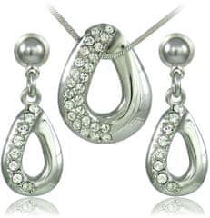 MHM Zestaw biżuteria kryształ Porto 34129
