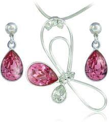 MHM Komplet nakita Debia Rose 34133 (uhani, veriga, obesek) srebro 925/1000