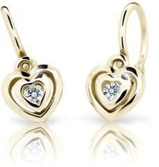 Cutie Jewellery Gyermek fülbevaló C2177-10-10-X-1 sárga arany 585/1000