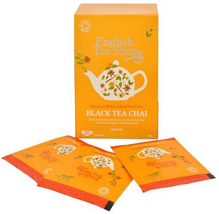 English Tea Shop Čierny čaj Chai 20 sáčkov
