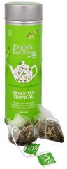 English Tea Shop Zelený čaj s infúzí tropického ovoce - plechovka s 15 bioodbouratelnými pyramidkami
