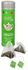 English Tea Shop Zelený čaj s granátovým jablkom - plechovka s 15 bioodbouratelnými pyramídkami
