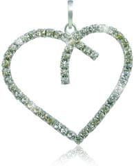 MHM Náhrdelník Srdce Crystal 3194 (řetízek, přívěsek) stříbro 925/1000