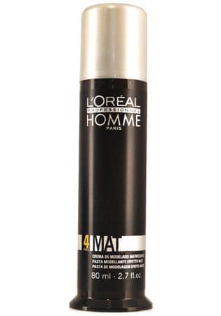 Loreal Professionnel Homme Mat mattító hatású hajpaszta férfiaknak(Matte Sculpting Pomade) 80 ml