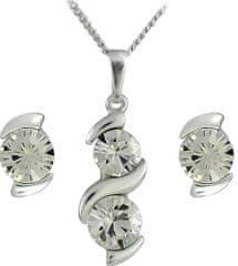 MHM Csepp fülbevaló Sisi Crystal 34146 ezüst 925/1000