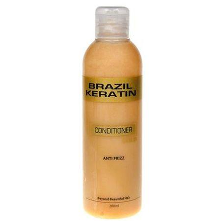 Brazil Keratin Złoty odżywka do włosów zniszczonych (Odżywka Anti-Frizz Gold) (objętość 300 ml)