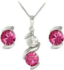 MHM Souprava šperků Sisi Rose 34168 (náušnice, řetízek, přívěsek) stříbro 925/1000