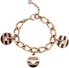Emporio Armani Luksusowa bransoleta z brązu z zawieszkami EGS1588200