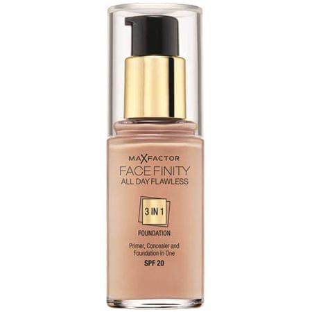 Max Factor Hosszan tartó smink Facefinity 3 az 1-ben (Hibátlan egész nap) 30 ml (árnyalat 65 Rose Beige)