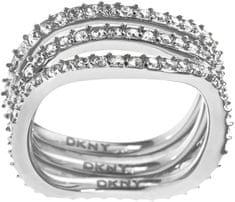 DKNY Tripla soros kristályokkal díszített arany gyűrű NJ1919040