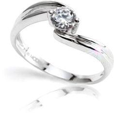 Modesi Zásnubný prsteň Q8329L striebro 925/1000