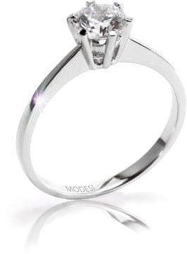 Modesi Zásnubný prsteň QJR1565L (Obvod 55 mm) striebro 925/1000