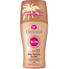 Dermacol Vodeodolné zvláčňujúce mlieko na opaľovanie v spreji SPF 10 Sun (Water Resistant Sun Milk) 200 ml