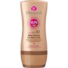 Dermacol Vodeodolné zvláčňujúce mlieko na opaľovanie pre deti SPF 30 Sun Kids (Water Resistant Sun Milk for K