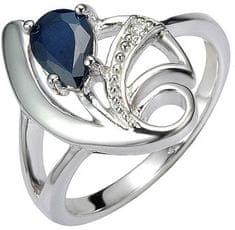 Silvego Srebra pierścień z szafiru Desire FNJR0673 srebro 925/1000