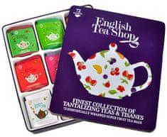 English Tea Shop Darčeková plechová kazeta - výber ovocných a bylinných čajov 72 sáčkov / 9 príchuťou