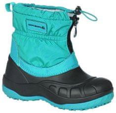 ALPINE PRO Dívčí zimní obuv SAVIO zelená