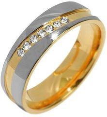 Silvego Zaangażowanie stalowy pierścień dla kobiet MARIAGE RRC2050-Z